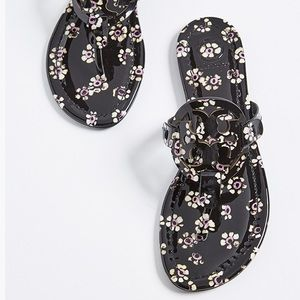 Tory Burch Miller Patent Stamped Floral Printed